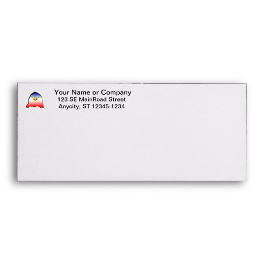 eagle blue white red w outline horizontal gradient envelope