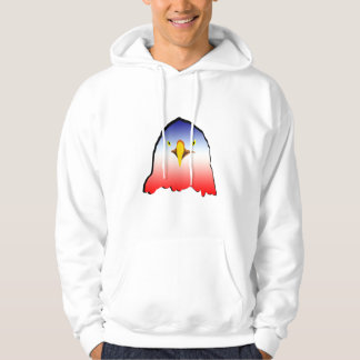 eagle blue white red w outline horizontal gradient hooded pullover