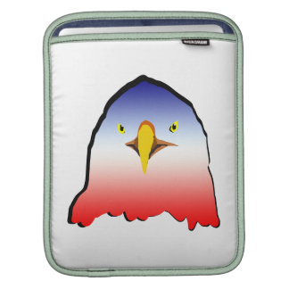 eagle blue white red w outline horizontal gradient iPad sleeve