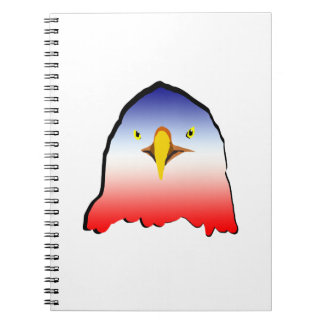 eagle blue white red w outline horizontal gradient notebook
