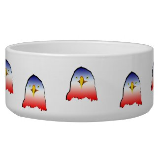 eagle blue white red w outline horizontal gradient pet water bowls