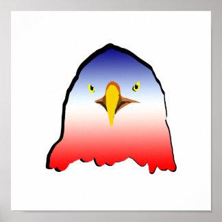 eagle blue white red w outline horizontal gradient print