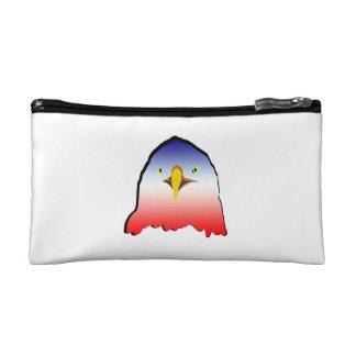 eagle blue white red w outline makeup bag