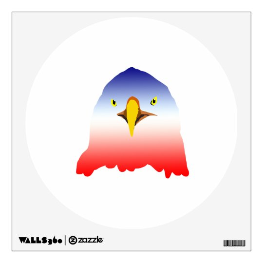 eagle blue white red wall sticker