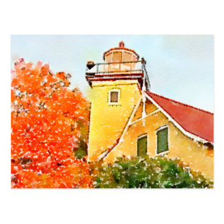 Eagle Bluff Lighthouse, Door County, Wisconsin Postcard