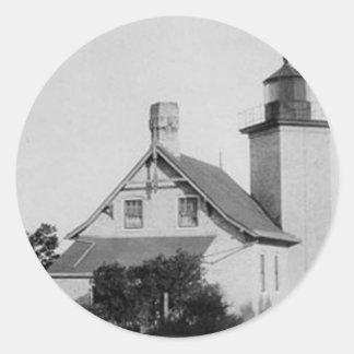 Eagle Bluff Lighthouse Round Sticker