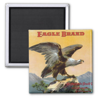 Eagle Brand Fruit Crate Label 2 Inch Square Magnet