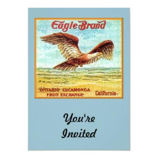 "Eagle Brand Fruit Crate Label 5"" X 7"" Invitation Card"