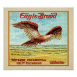 Eagle Brand Fruit Crate Label Poster