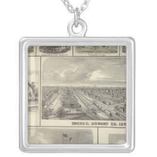 Eagle Brewery, Cedar Rapids Silver Plated Necklace