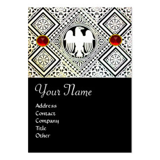 EAGLE , bright RED RUBY Large Business Cards (Pack Of 100)