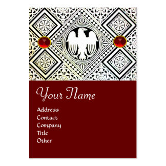 EAGLE , bright RED RUBY Large Business Card