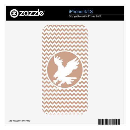 Eagle; Brown Chevron Calcomanías Para El iPhone 4