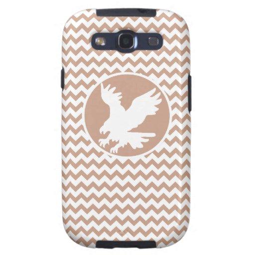 Eagle; Brown Chevron Samsung Galaxy S3 Cárcasa