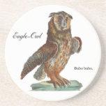 Eagle-Búho - bubón del bubón Posavasos Personalizados