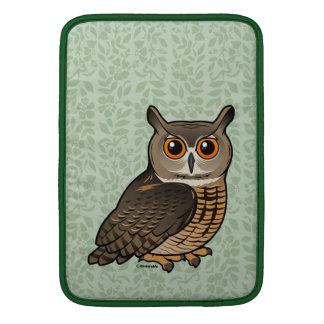 Eagle-Búho eurasiático Fundas MacBook
