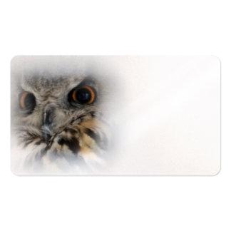 Eagle-búho eurasiático tarjetas de visita