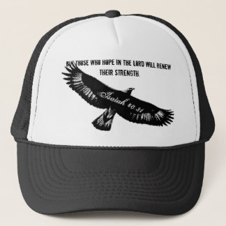 Eagle, But those who hope in the Lord will rene... Trucker Hat