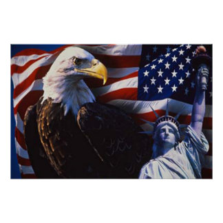 Eagle calvo 4to del poster 5 de julio