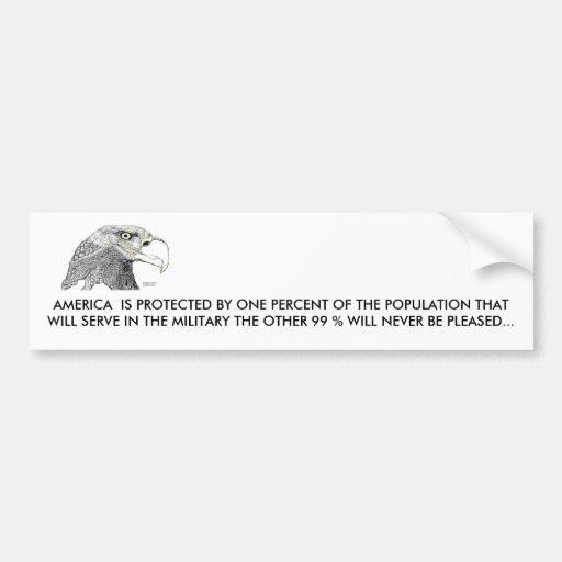 Eagle calvo, AMÉRICA SE PROTEGE POR… Etiqueta De Parachoque