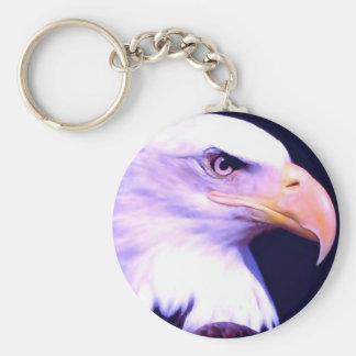 Eagle calvo - American Eagle Llavero Redondo Tipo Pin
