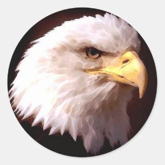 Eagle calvo American Eagle Pegatina Redonda