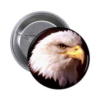 Eagle calvo American Eagle Pin Redondo De 2 Pulgadas