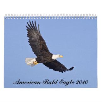 Eagle calvo americano 2010 calendario de pared