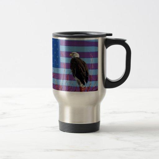 Eagle calvo americano 3 taza de viaje