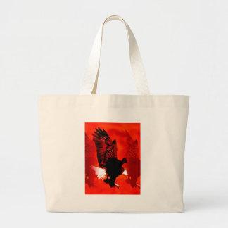 Eagle calvo americano bolsa de tela grande