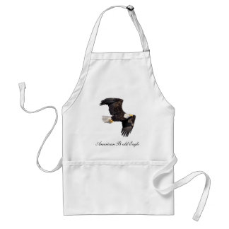 Eagle calvo americano delantal
