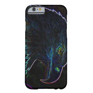 Eagle calvo americano en bordes que brillan funda de iPhone 6 slim