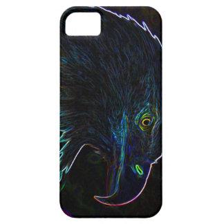 Eagle calvo americano en bordes que brillan intens iPhone 5 Case-Mate coberturas