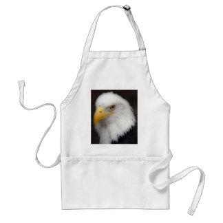 'Eagle calvo americano en Portrait Delantal