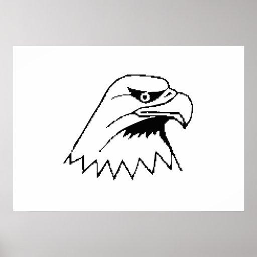 Eagle calvo americano impresiones