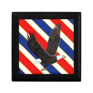Eagle calvo americano cajas de recuerdo
