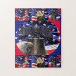 Eagle calvo americano, Liberty Bell y rompecabezas