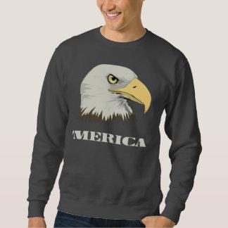Eagle calvo americano para Merica Sudadera