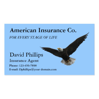 Eagle calvo americano patriótico tarjetas de visita