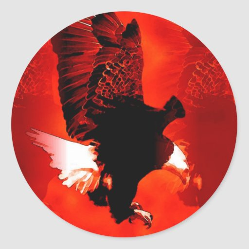 Eagle calvo americano pegatina redonda