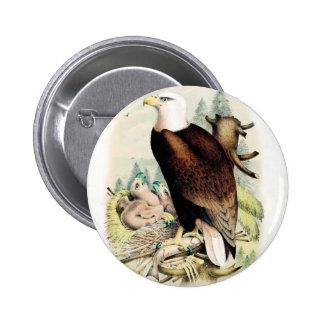 Eagle calvo americano pin