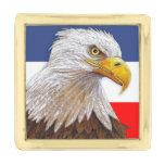 Eagle calvo americano pins dorados