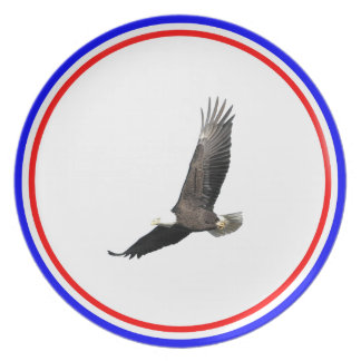 Eagle calvo americano platos de comidas