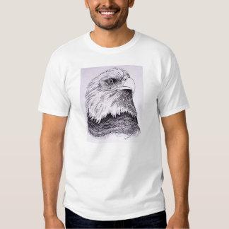 Eagle calvo americano playera