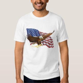 Eagle calvo americano remeras