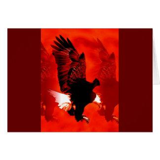 Eagle calvo americano tarjeta de felicitación