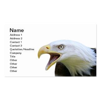 Eagle calvo americano tarjetas de visita