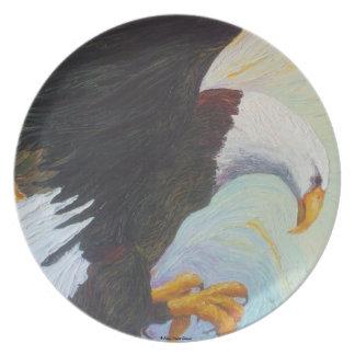 Eagle calvo americano - una placa del tesoro nacio plato para fiesta