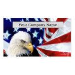 Eagle calvo americano y tarjetas de visita de la b