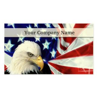 Eagle calvo americano y tarjetas de visita de la